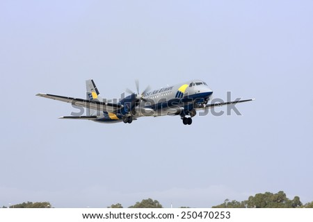Luqa, Malta December 29, 2008: West Air Europe Cargo British Aerospace ATP(F) taking off runway 14. - stock photo