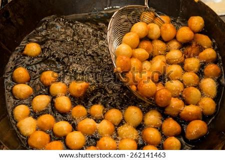Luqaimat - Traditional Sweet dumplings of UAE - stock photo