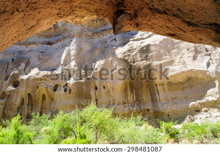 Lush Caves at Big Bend National Park - stock photo