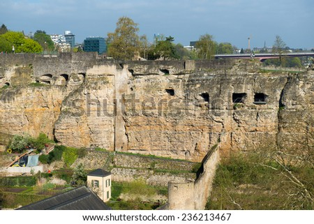 Luxembourg casemates - Grand Duchy of Luxembourg - stock photo