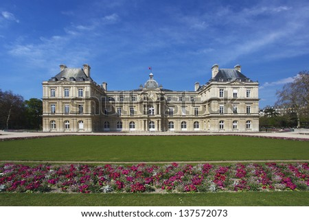 Luxembourg Palace and Garden in Paris, France, Europe - stock photo