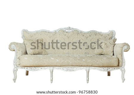 Luxurious armchair isolated on white - stock photo