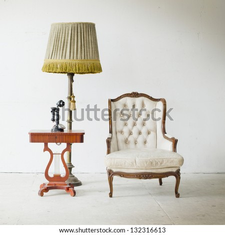 Luxurious armchair vintage - stock photo
