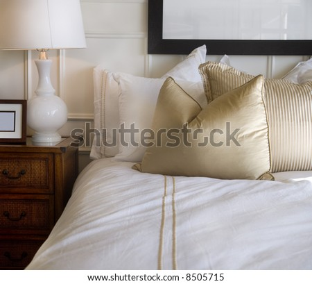 Luxurious Bedroom Detail - stock photo