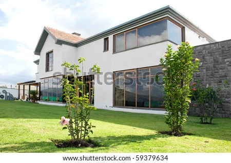 Luxurious big beautiful house - stock photo