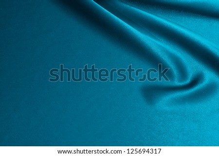 luxurious blue satin background close up - stock photo