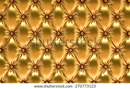 luxurious golden leather - stock photo