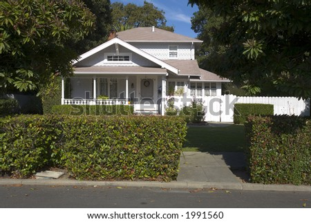 """Luxurious home located on """"The Peninsula"""" in Northern California near San Francisco. - stock photo"""