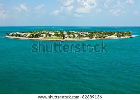 Luxurious island of Sunset Key, Key West, Florida - stock photo
