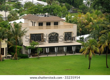 Luxurious real estate in South Florida - stock photo