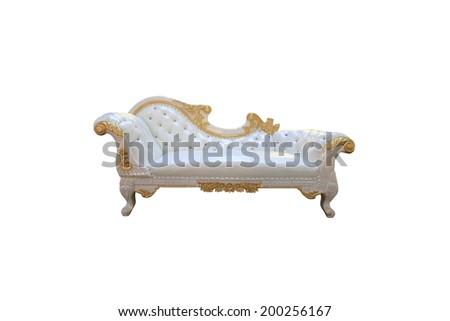 Luxurious sofa isolated on white background - stock photo
