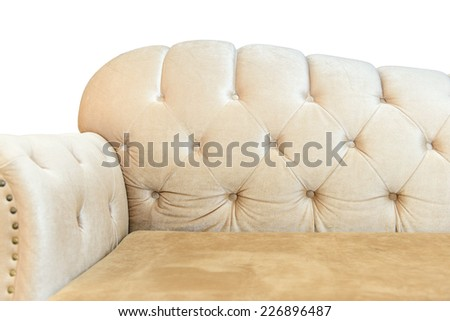 Luxurious sofa isolated on white background - stock photo