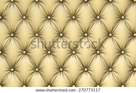 luxurious texture of beige leather upholstery. - stock photo