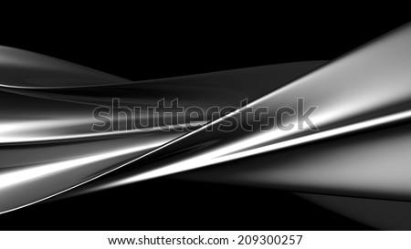 Luxury abstract silver metallic twisted art background 3d illustration - stock photo