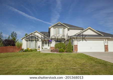 luxury American family house - stock photo