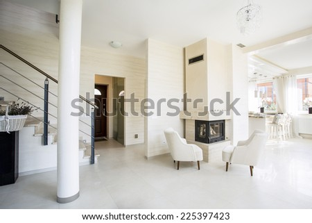 Luxury and modern living room - stock photo