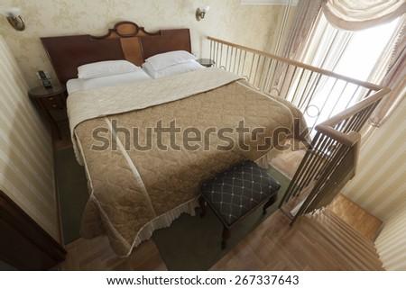 luxury apartment duplex - stock photo