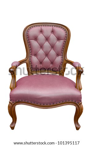 luxury armchair isolated on the white background with clipping path - stock photo