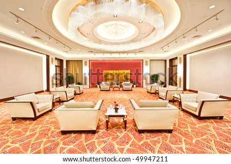 luxury audience chamber - stock photo