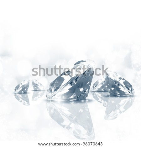 Luxury  background of diamond in blue tone - stock photo