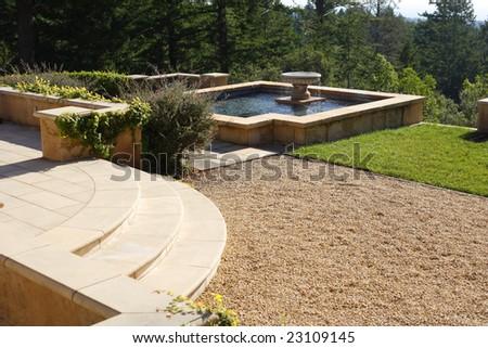 Luxury backyard - stock photo