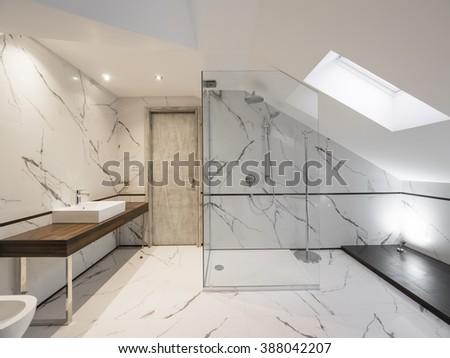 Luxury bathroom - stock photo