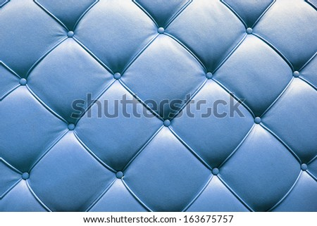 Luxury blue leather - stock photo