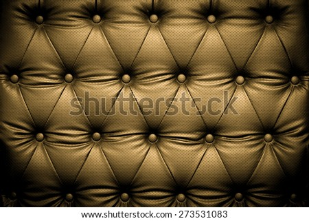 Luxury brown leather texture with buttoned pattern - stock photo