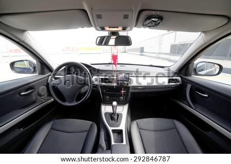 Luxury car interior.  - stock photo