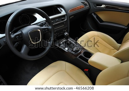 Luxury car interior - stock photo