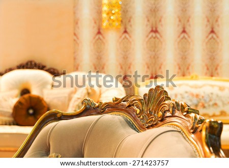 Luxury chair in fashion interior - stock photo