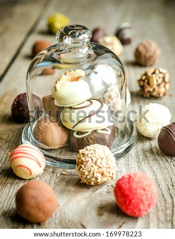 Luxury chocolate candies - stock photo