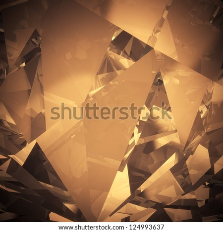 Luxury color crystal facet background - stock photo