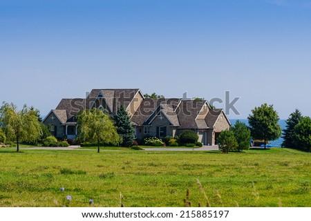 Luxury country home - stock photo