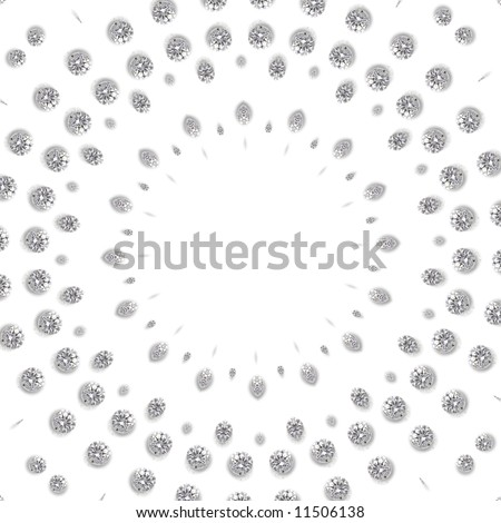 Luxury diamond texture - background white - stock photo