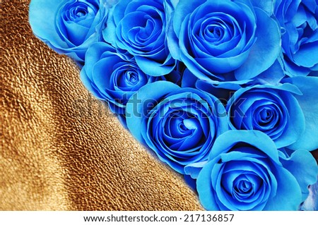 Luxury flowers,gold background success  - stock photo