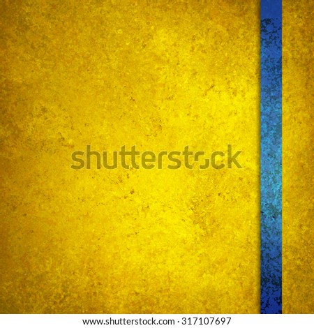 luxury gold background with teal blue ribbon stripe on border - stock photo
