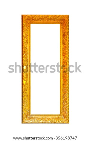 Luxury gold frame isolated included clipping path