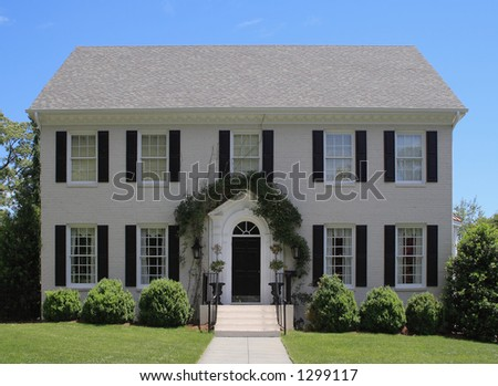 Luxury home in Raleigh, NC - stock photo