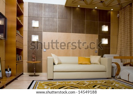 luxury home office - stock photo