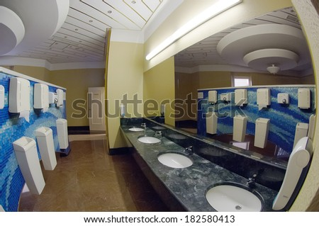Luxury hotel toilet - stock photo