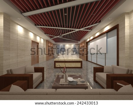 Luxury house 3D interior detail  - stock photo