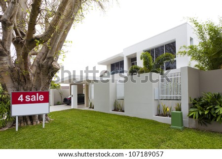Luxury house for sale - stock photo