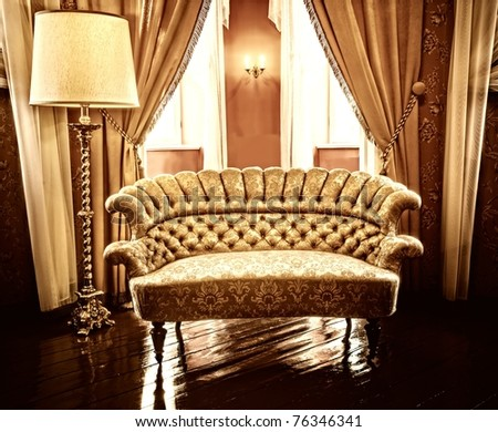 Luxury interior - stock photo