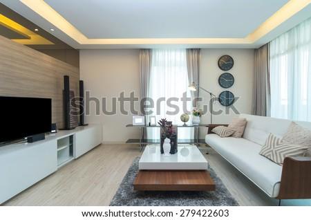 Luxury Interior living room - stock photo