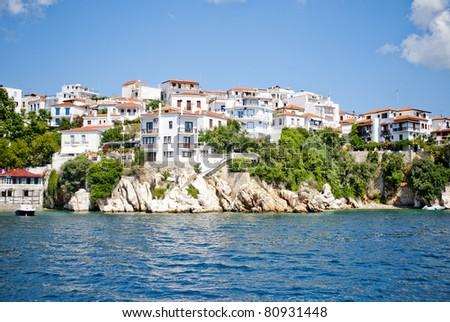 Luxury Island-Skiatos View - stock photo