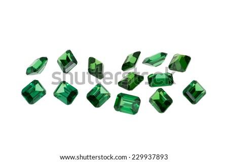 Luxury jewelry gems, emerald - stock photo