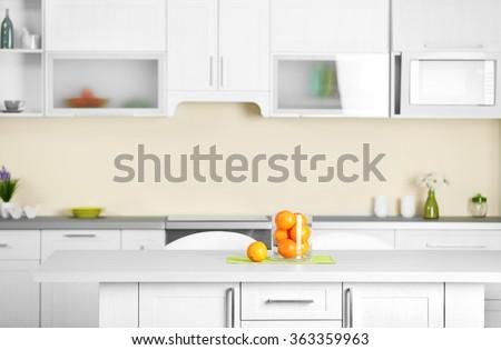 Luxury kitchen interior - stock photo
