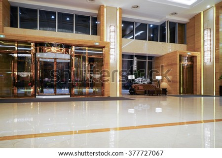 Luxury lobby lounge - stock photo