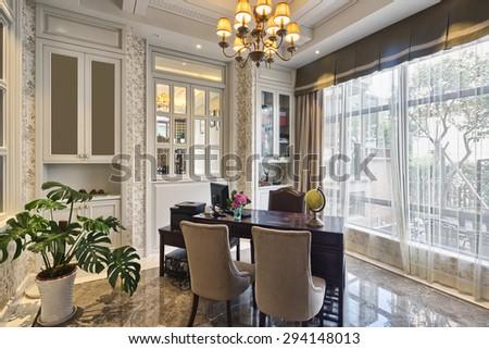 luxury lobby room interior and decoration - stock photo